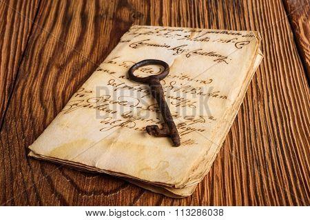 Old Key On Letter