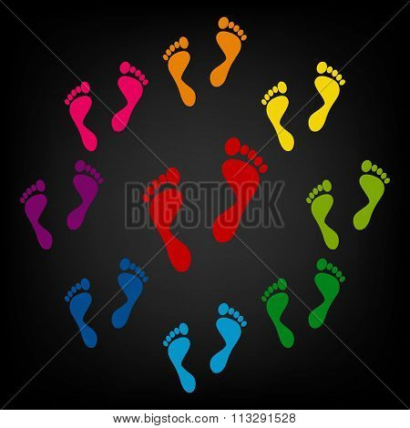 Foot prints icon