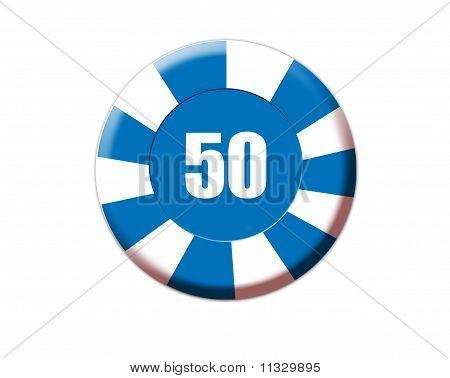 Blue Roulette Chip