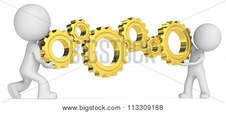 Golden Cogwheels.