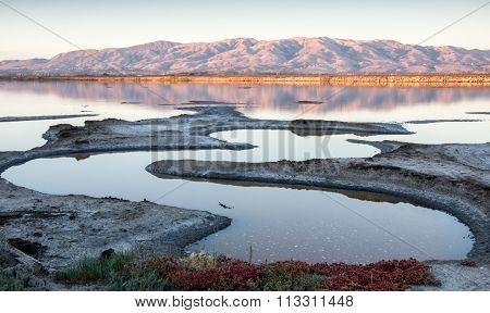 Sunset, Alviso Slough, California