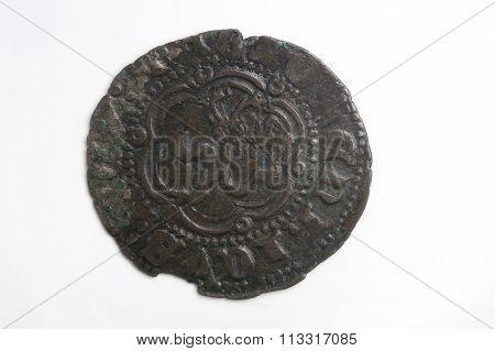 Medieval coin Spain Enrique III