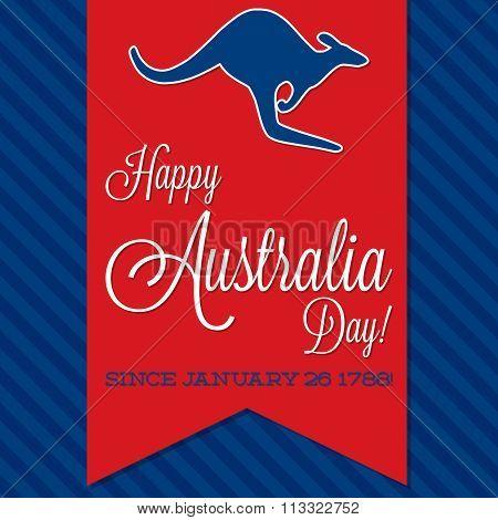 Australia Day Sash Card In Vector Format.