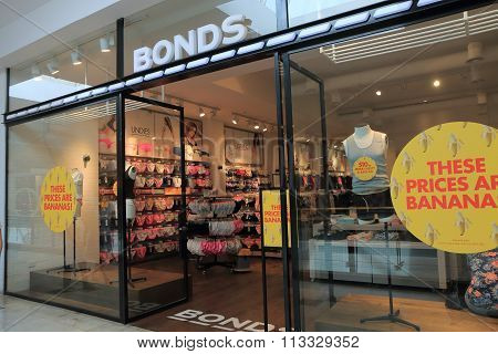Bonds Clothes underware shop Australia