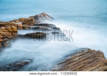Sea Rocks In Early Morning