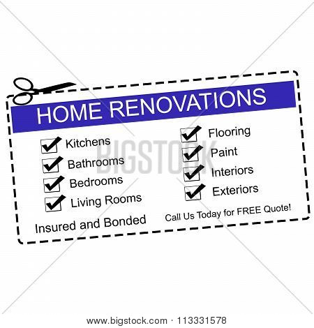 Home Renovations Blue Coupon