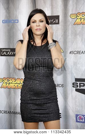 Christa Campbell at the Scream Awards 2011 held at the Universal Studios Backlot in Universal City, USA on October 15, 2011.