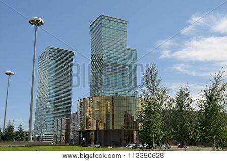 The Construction Of Modern Buildings In Astana, Kazakhstan