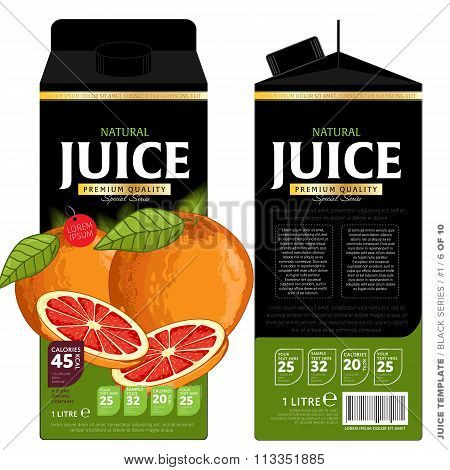 Template Packaging Design Grapefruit Juice