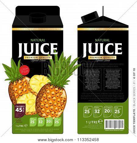 Template Packaging Design Pineapple Juice