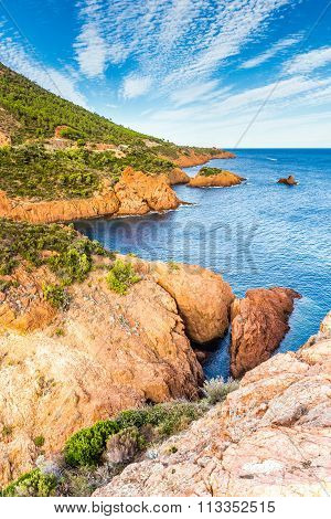 Red Rocks Of Esterel Massif-french Riviera,france