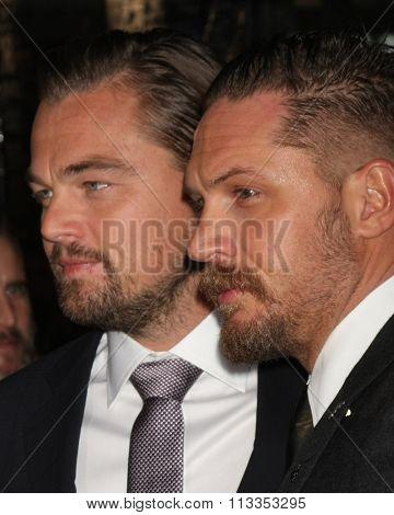 LOS ANGELES - DEC 16:  Leonardo DiCaprio, Tom Hardy at the