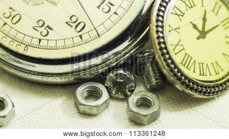 Vintage old stopwatch