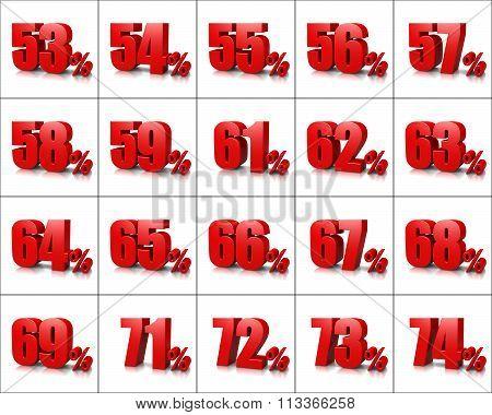 Percentage Numbers Series 4