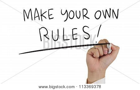Make Your Own Rules, Concept Typography