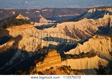 Badlands of Civita of Bagnoregio in Italy