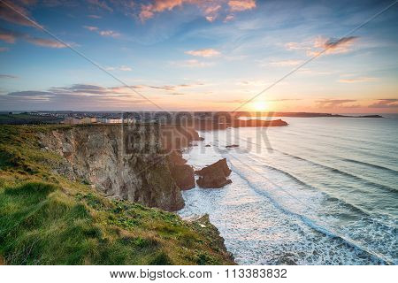 Sunset Over Newquay