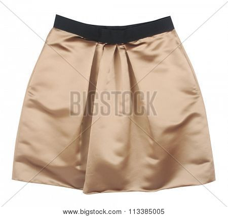 golden skirt isolated on white