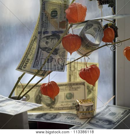 Money On Flowers