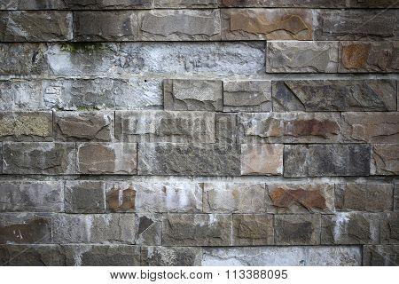 Empty Brick Gray Wall