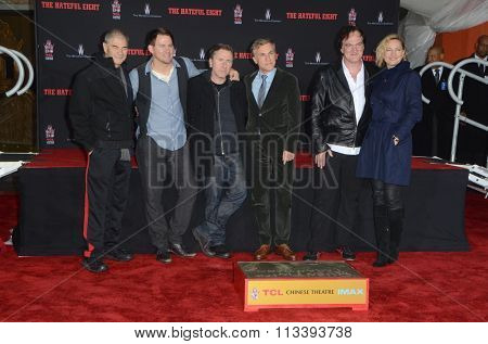 LOS ANGELES - JAN 5: Forster, Tatum, Tim Roth, Waltz, Quentin Tarantino, Bell at the Quentin Tarantino Hand & Footprints Ceremony at the TCL Chinese Theater IMAX on January 5, 2016 in Los Angeles, CA