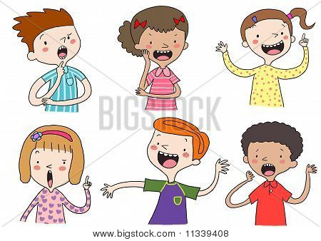 Children of various races