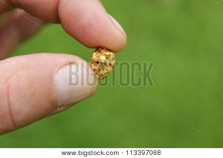 Gold Nugget mining from the River in Austria real Gold.
