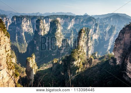 Avatar Hallelujah Mountain. Located in Zhangjiajie Wulingyuan Scenic and Historic Interest Area whic