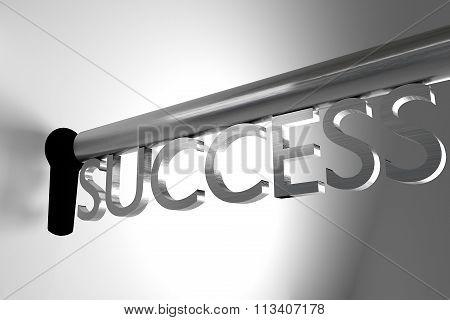Key Of Success Open Lock Keyhole