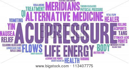 Acupressure Word Cloud