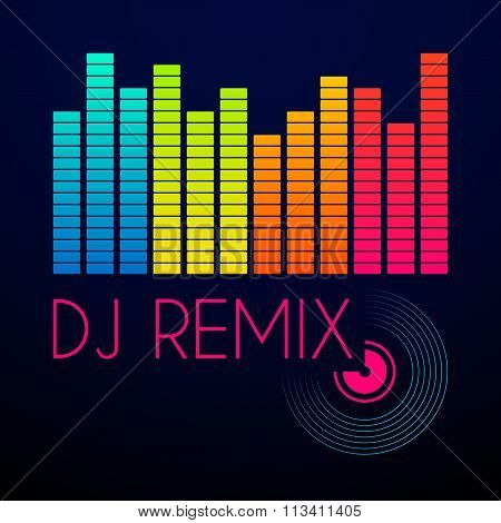 dj remix typography, t-shirt graphics
