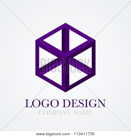 Vector illustration of cube logo