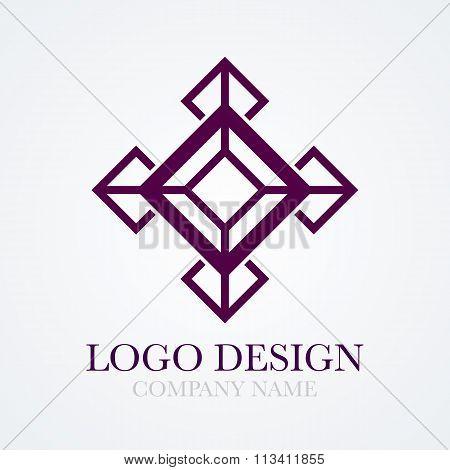 Vector illustration of cube logo