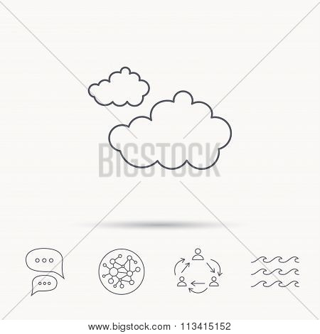 Cloudy icon. Overcast weather sign.