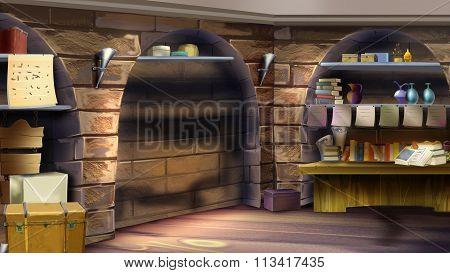 Castle room interior. Image 02