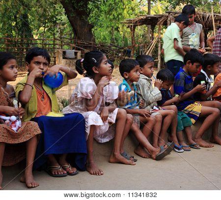 Young School Children India