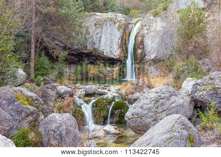 Ourlia waterfalls near Dion village, Olympus mountain, Greece