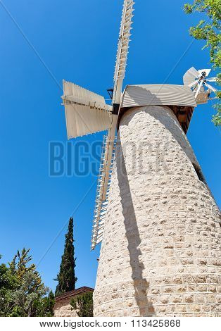 Old Windmill In Jerusalem