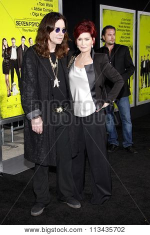 Ozzy Osbourne and Sharon Osbourne at the Los Angeles premiere of