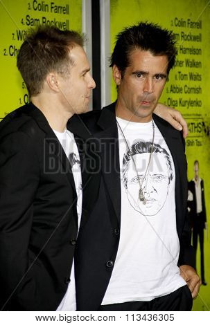 Sam Rockwell and Colin Farrell at the Los Angeles premiere of