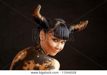Cow-headed Woman
