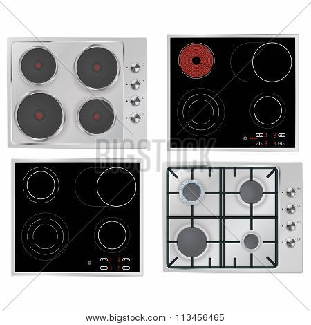 Electrical hob, Gas stove, Surface electric stove.
