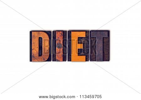 Diet Concept Isolated Letterpress Type
