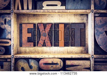 Exit Concept Letterpress Type