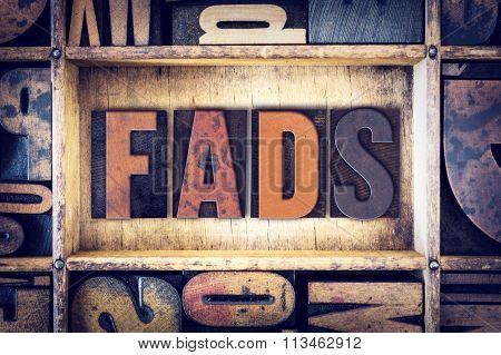 Fads Concept Letterpress Type