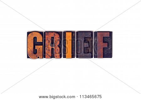 Grief Concept Isolated Letterpress Type
