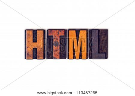 Html Concept Isolated Letterpress Type
