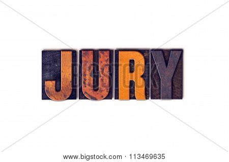 Jury Concept Isolated Letterpress Type