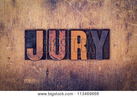 Jury Concept Wooden Letterpress Type