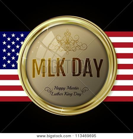 Martin Luther King Day Emblem. Vector Label For Mlk Day. Text